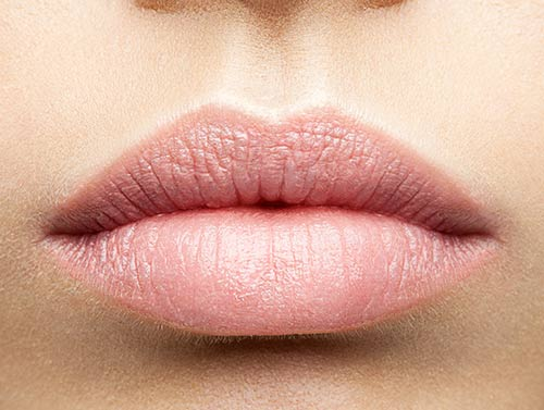 Microblading labios - antes