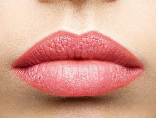 Microblading labios - despues